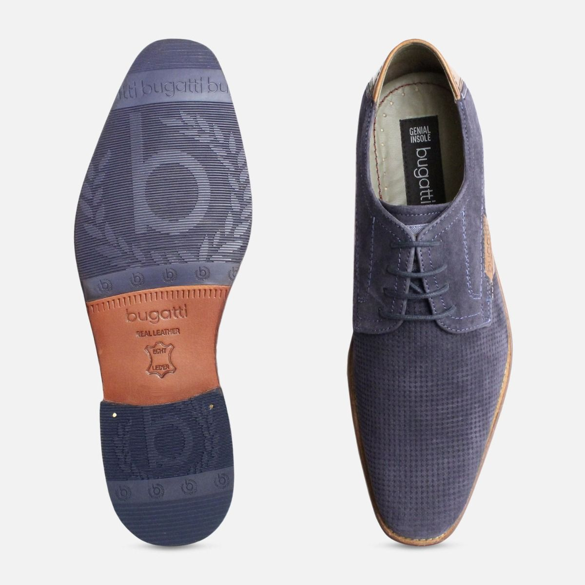 fb5f5657da149 Blue Suede Shoes for Men by Bugatti