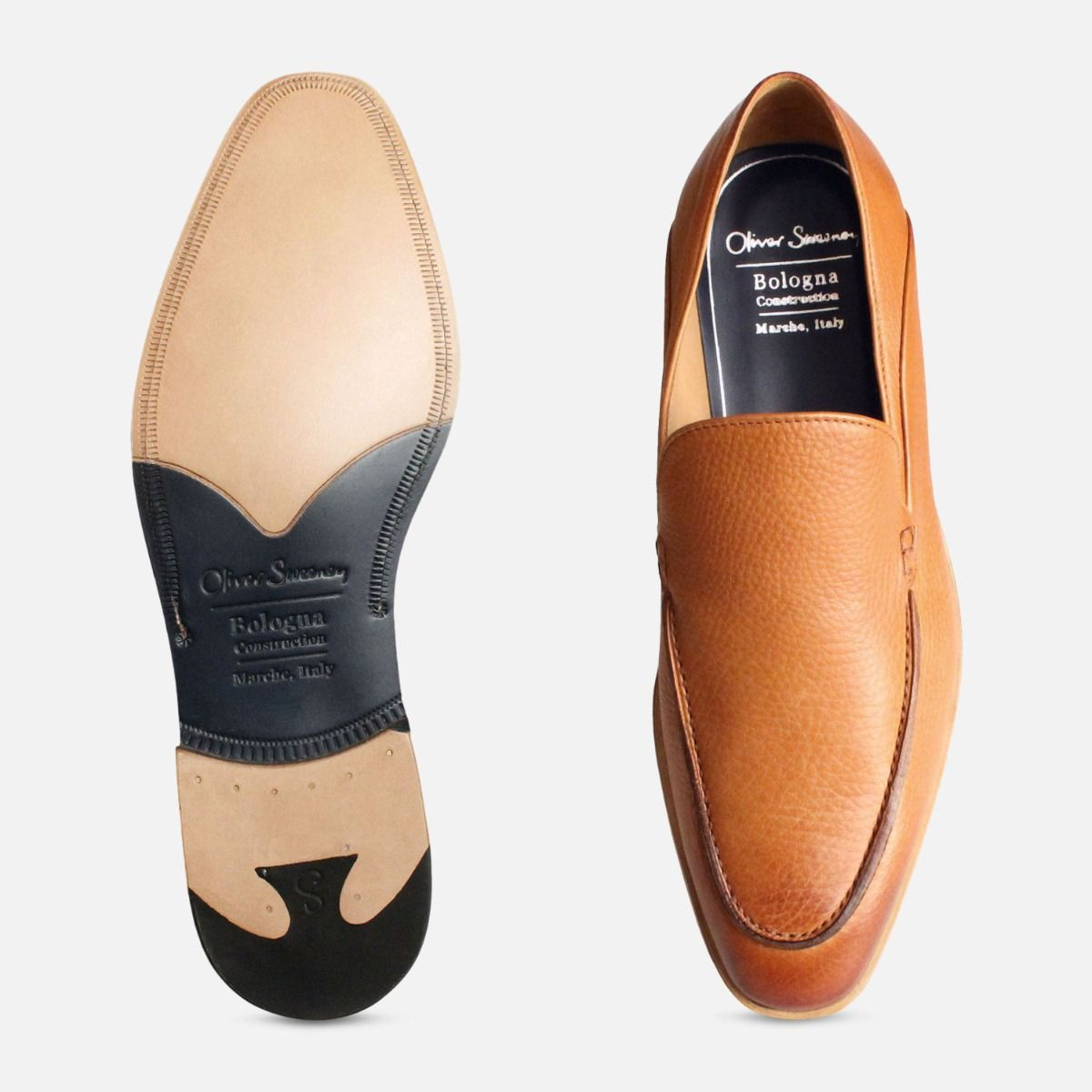 Brown Bologna Construction Loafers by Oliver Sweeney