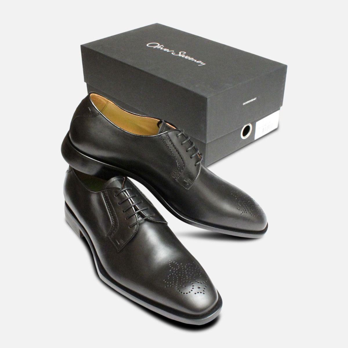 Oliver Sweeney Shoes Black Italian Cozzi Brogues