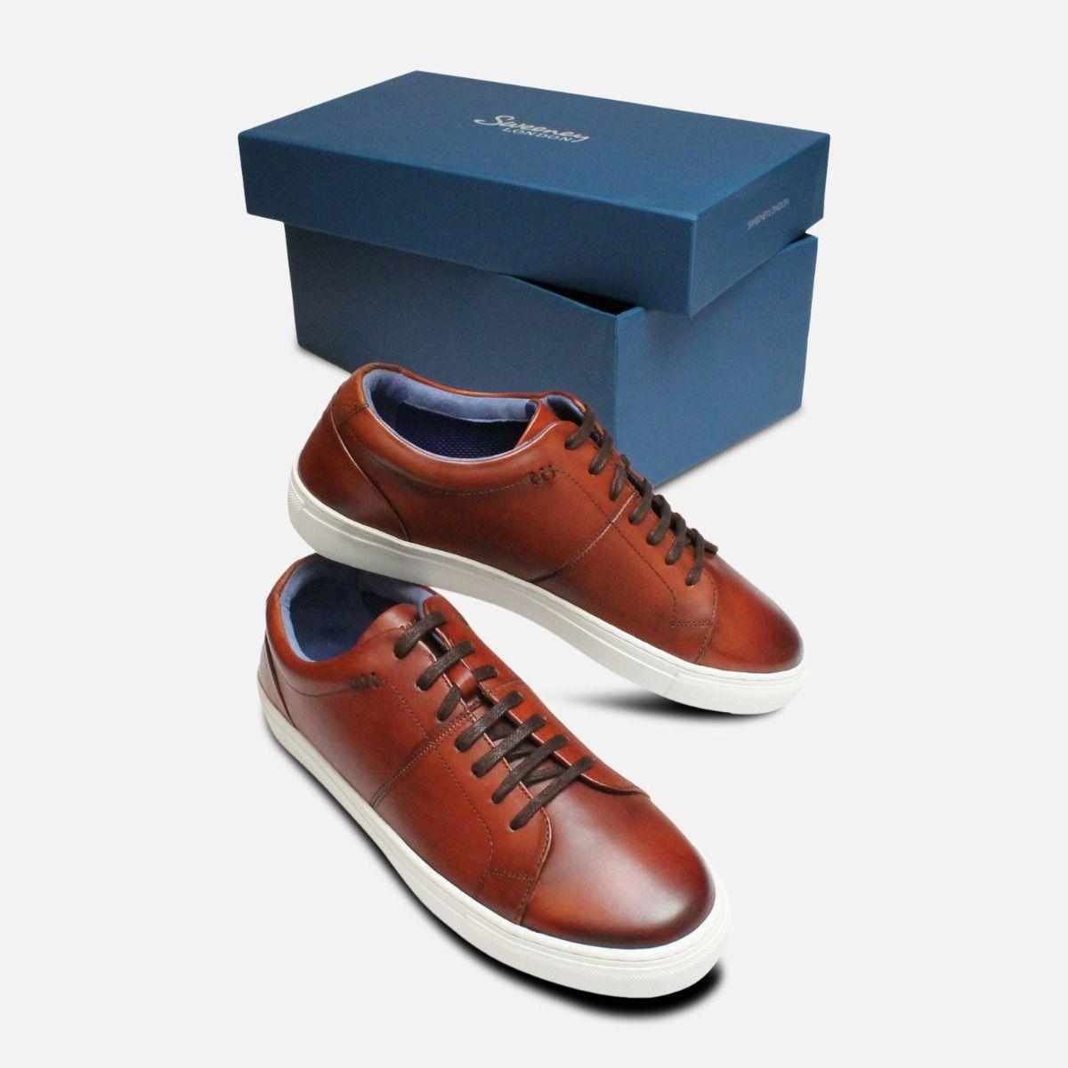 Luxury Oliver Sweeney Designer Cognac Laine Trainers