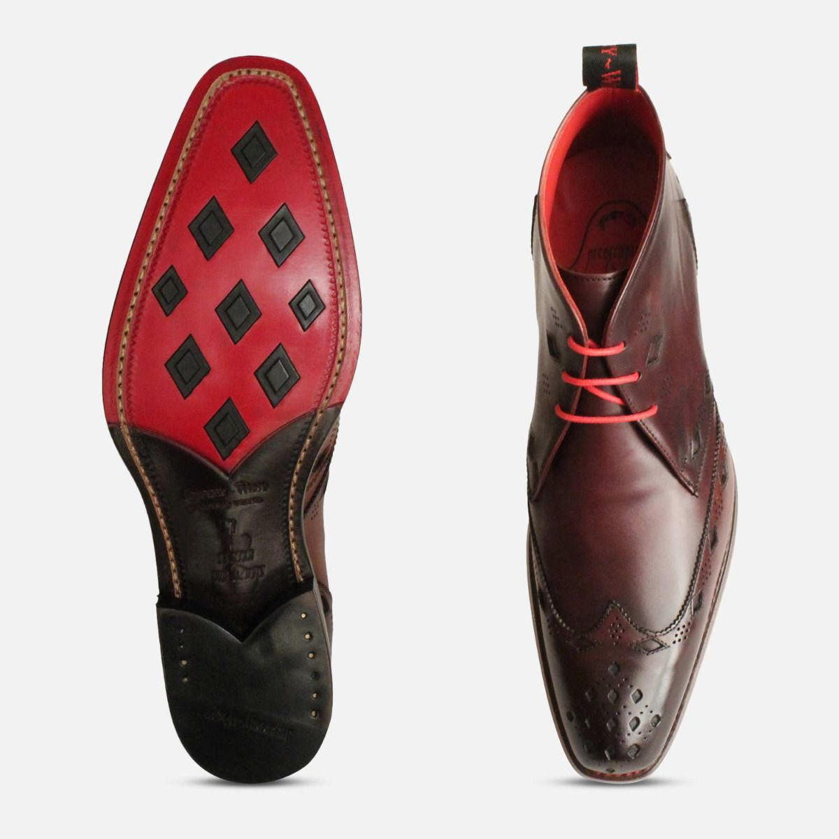 Premium Jeffery West Oxblood Diamond Chukka Boot