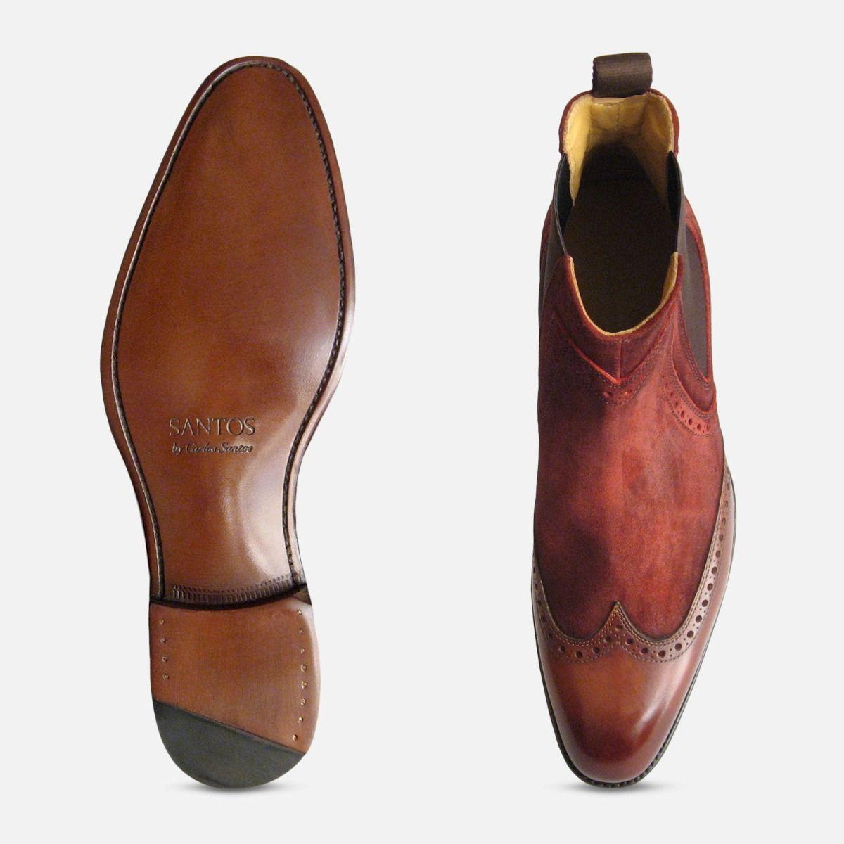 Conquer Two Tone Rustic Wine Carlos Santos Shoes