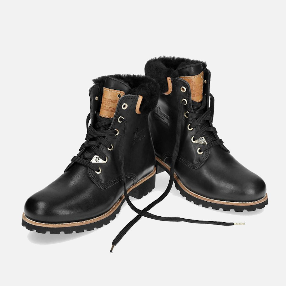 Panama Jack 03 Igloo Travelling Boots in Black Leather