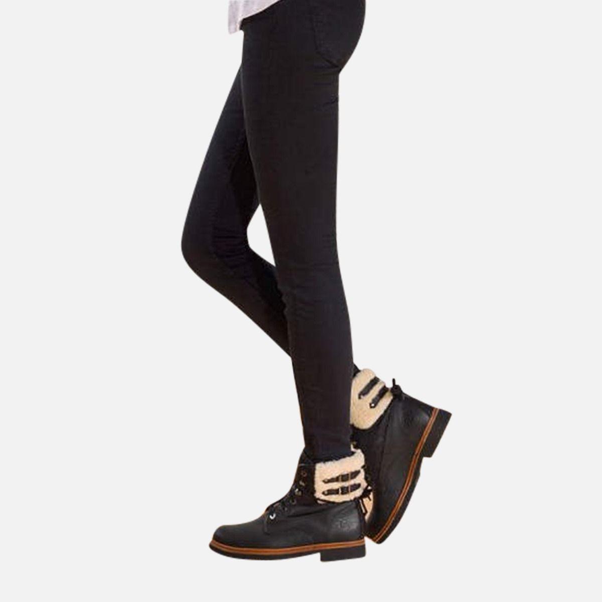 Ladies Black Panama Jack General Aviator Cotton Lined Fur Boots