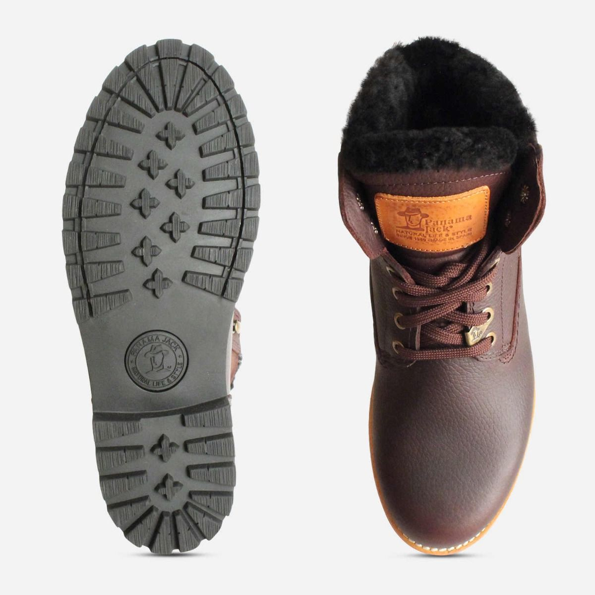 Panama Jack Dark Brown Igloo Warm Lined Trekking Boots