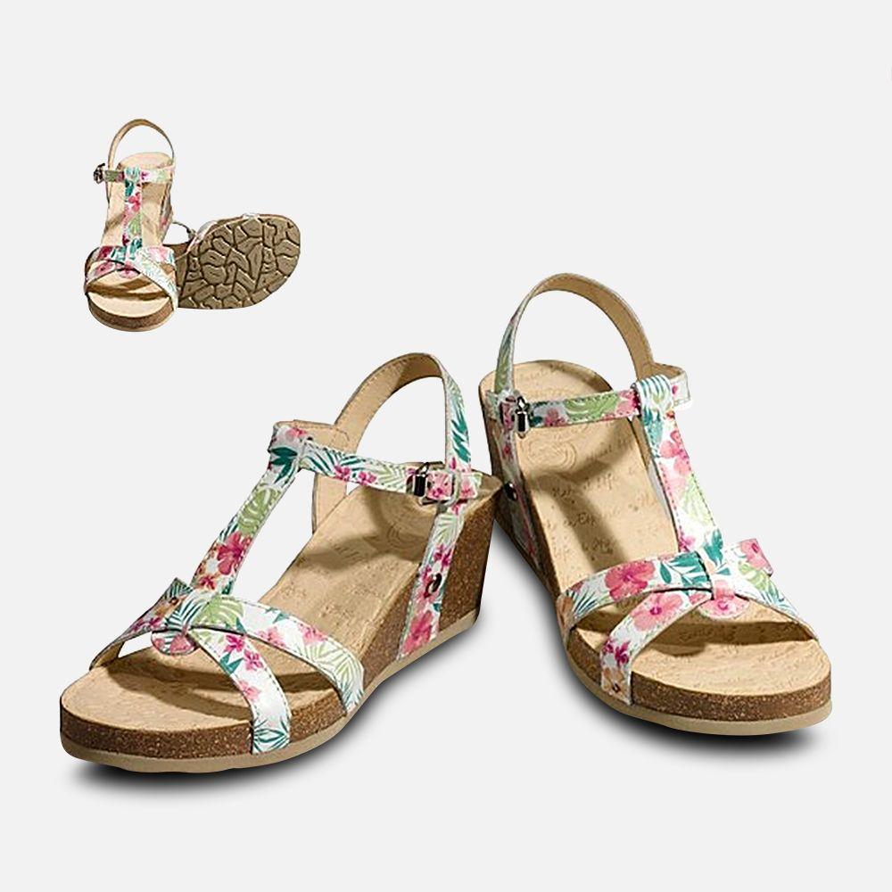 T Bar Panama Jack Janela Tropical Designer Sandals by Havana Joe