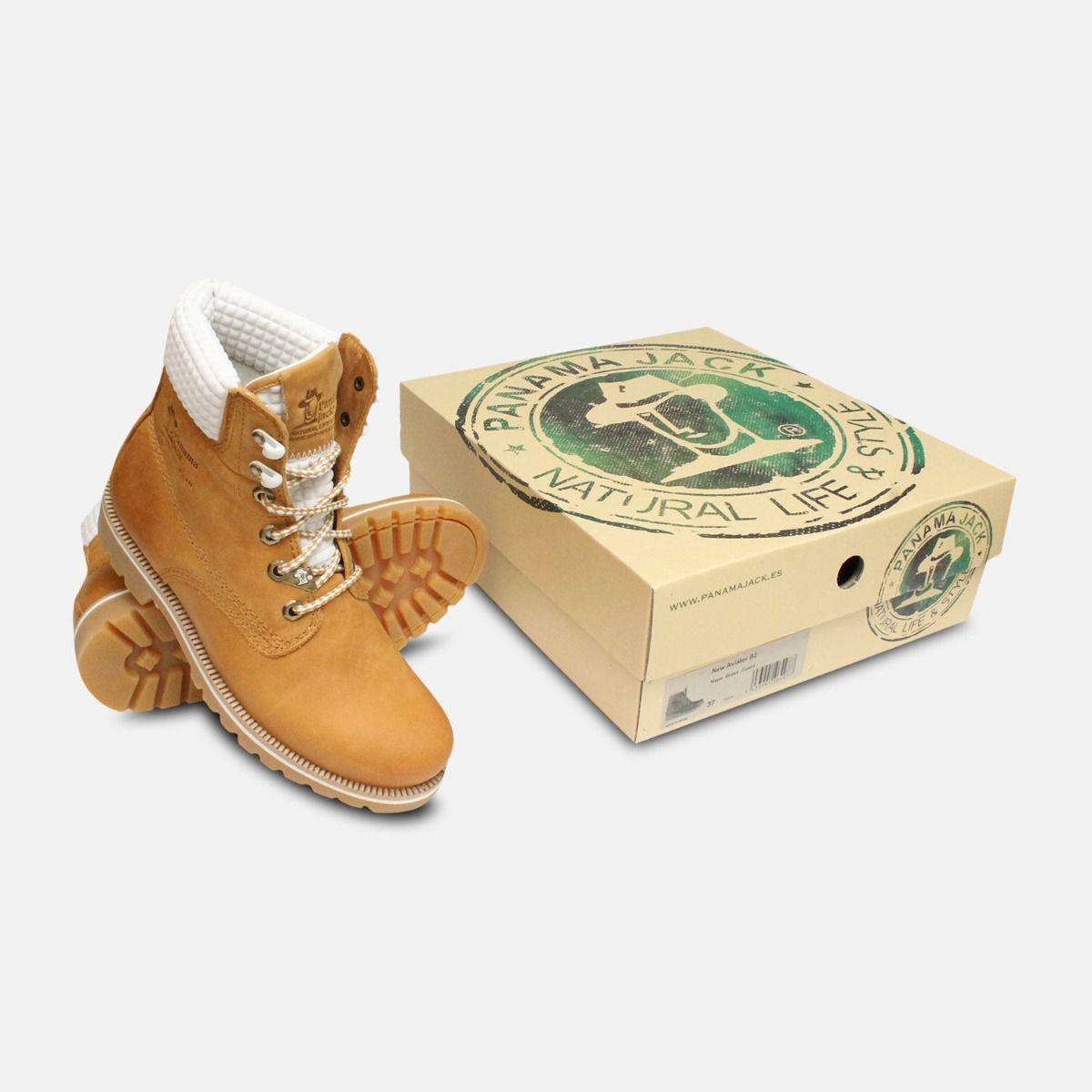Ladies White Vintage Panama Jack Boots 03 Neo B4