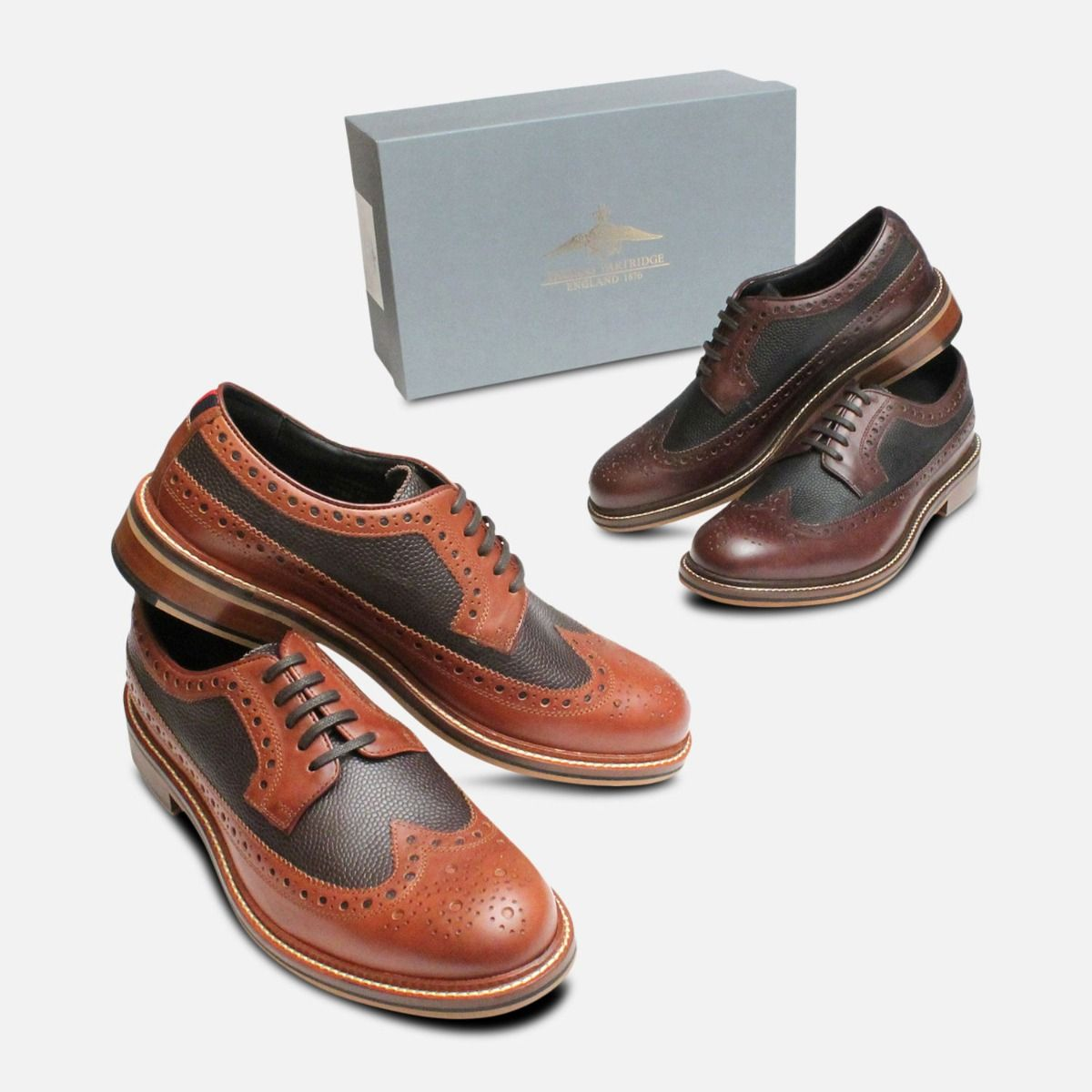 cheap for sale cheap sale quite nice Tan Wingtip Two Tone Brogues by Thomas Partridge