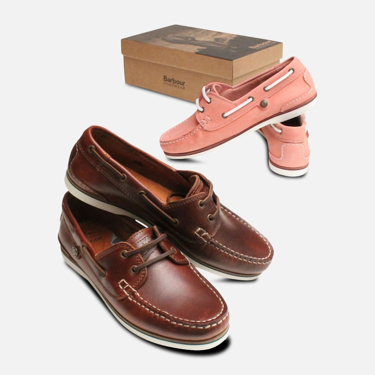35583081 Barbour Brown Waxy Mahogany Bowline Boat Shoes