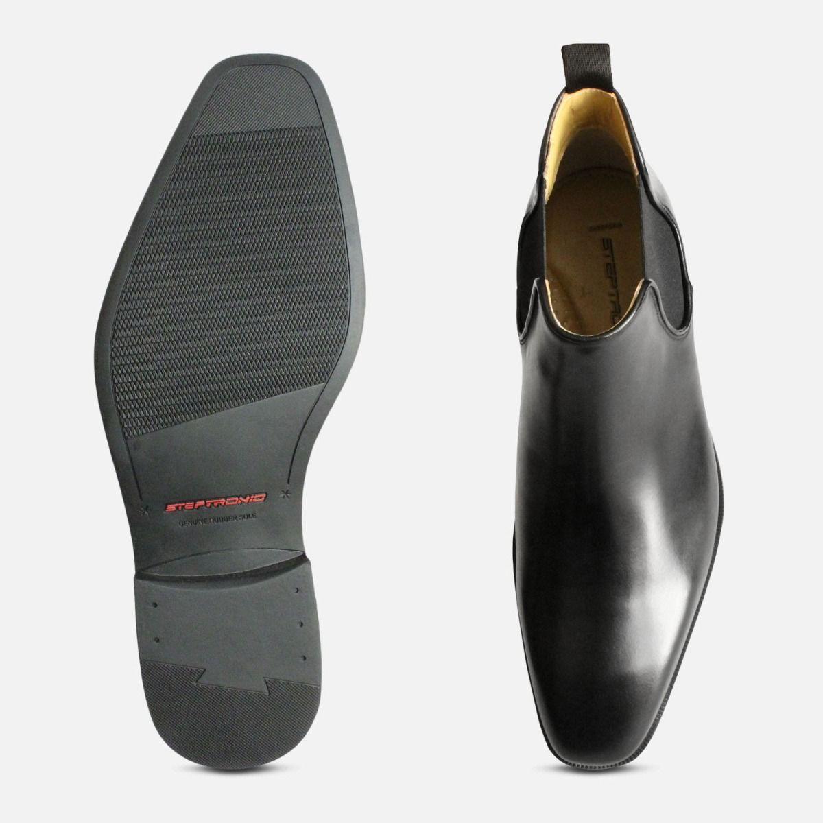 Chisel Toe Chelsea Boots Steptronic Hogan in Black