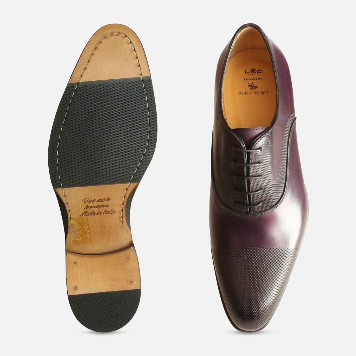 Executive Dark Aubergine Purple Oxford Shoes