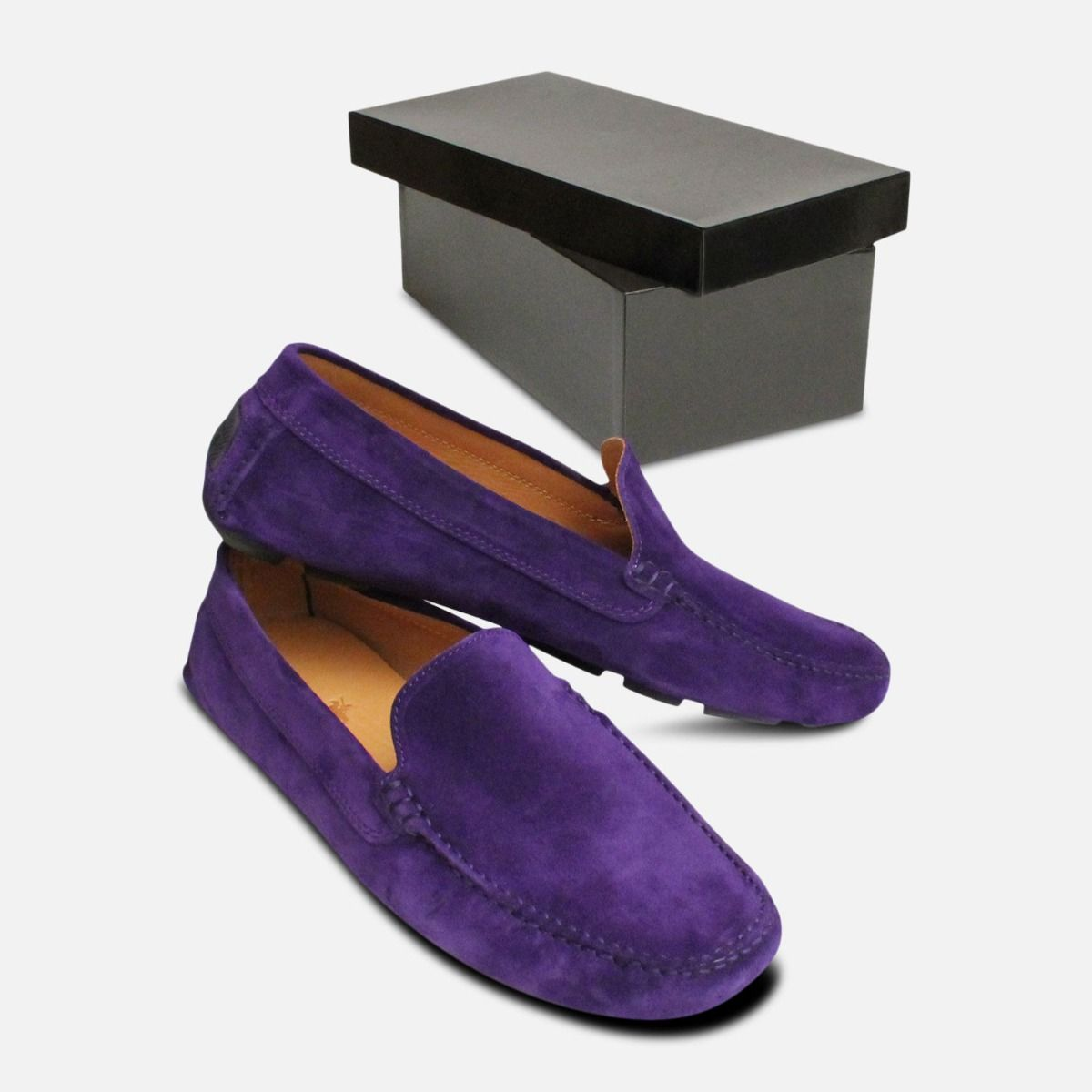 90b7edeb7dc Deep Purple Italian Moccasins by Arthur Knight Shoes