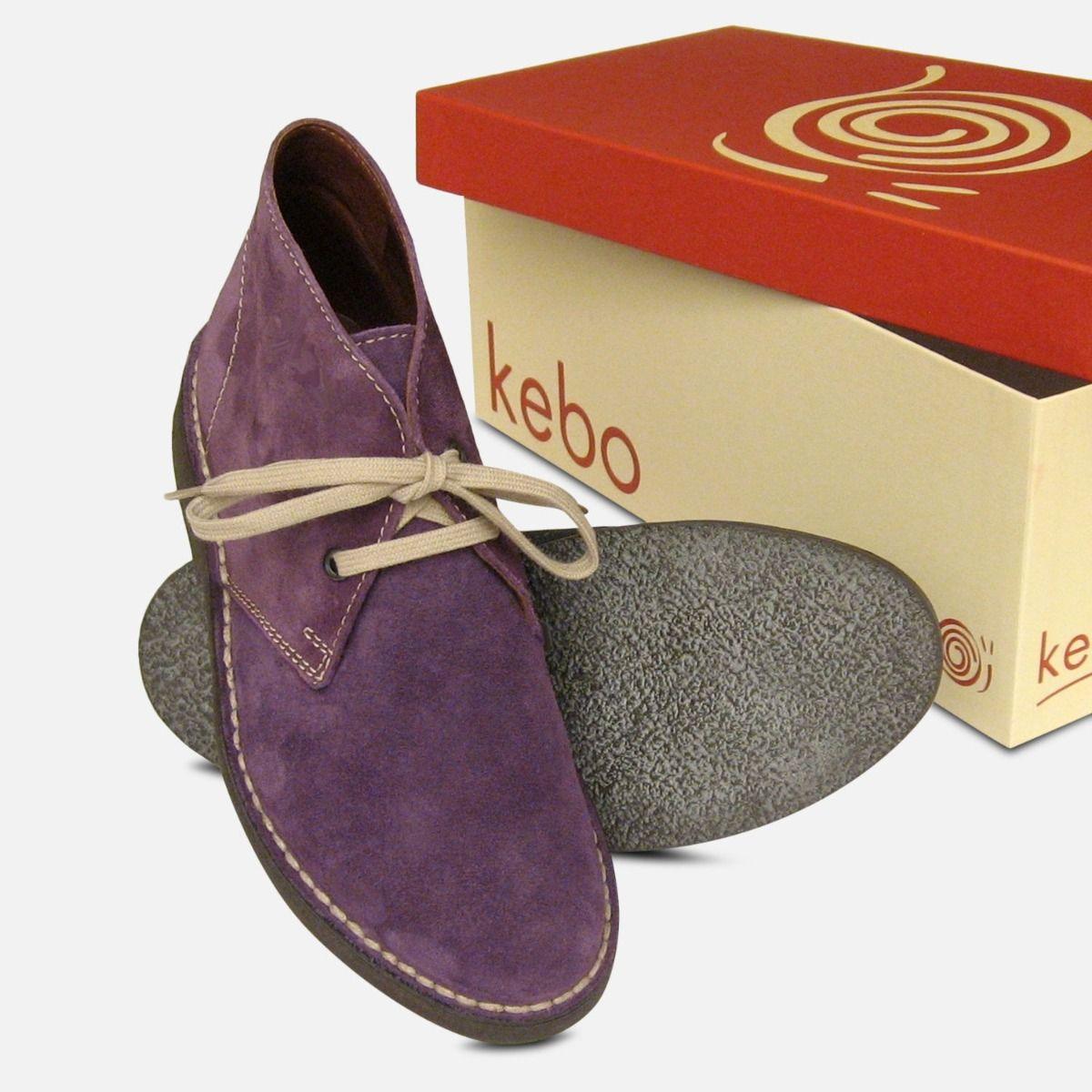 Purple Suede Womens Italian Arthur Knight Desert Boots