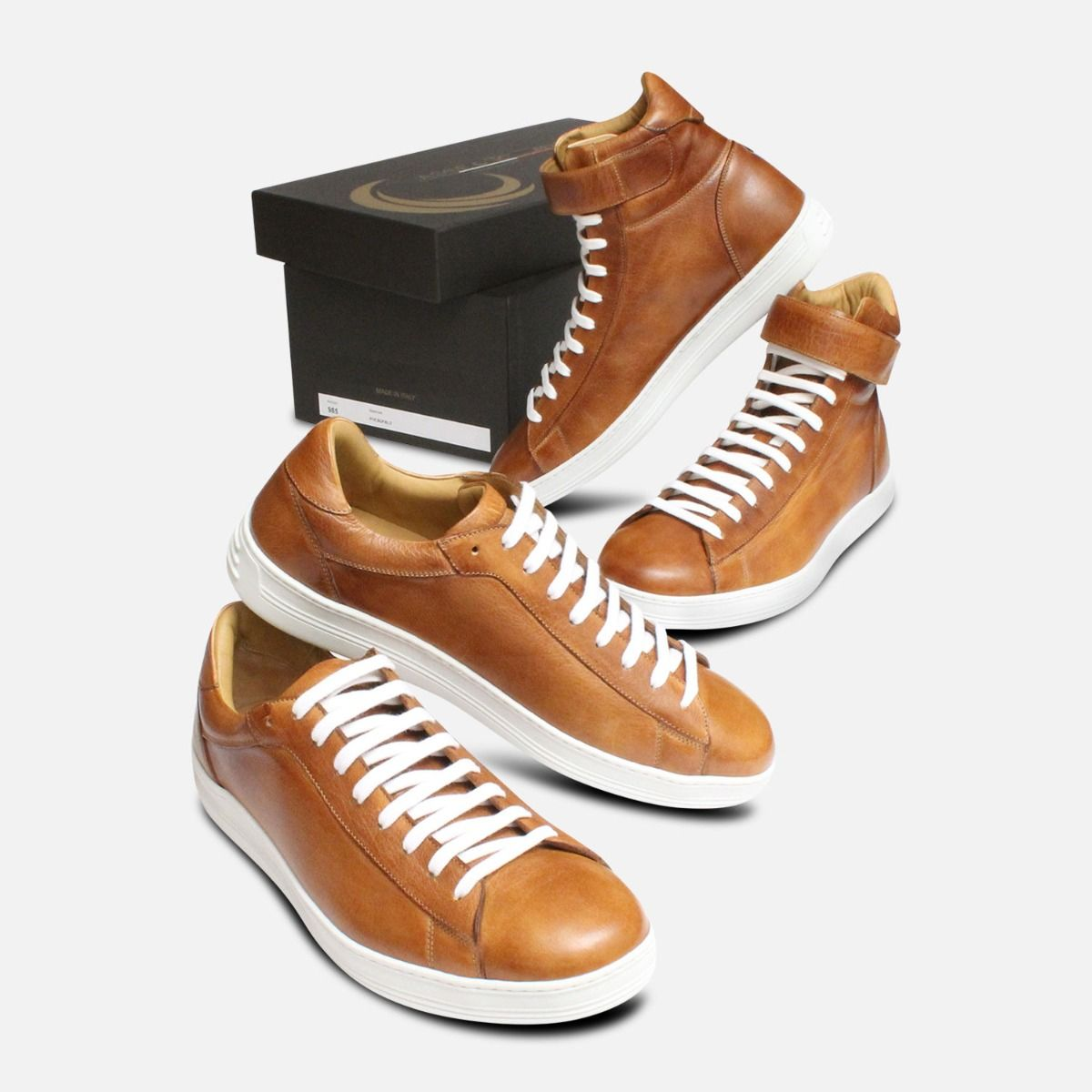 Luxury Buffalino Leather Designer Sneakers