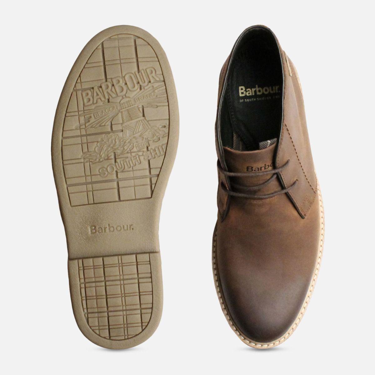 Brown Waxy Barbour Chukka Boots