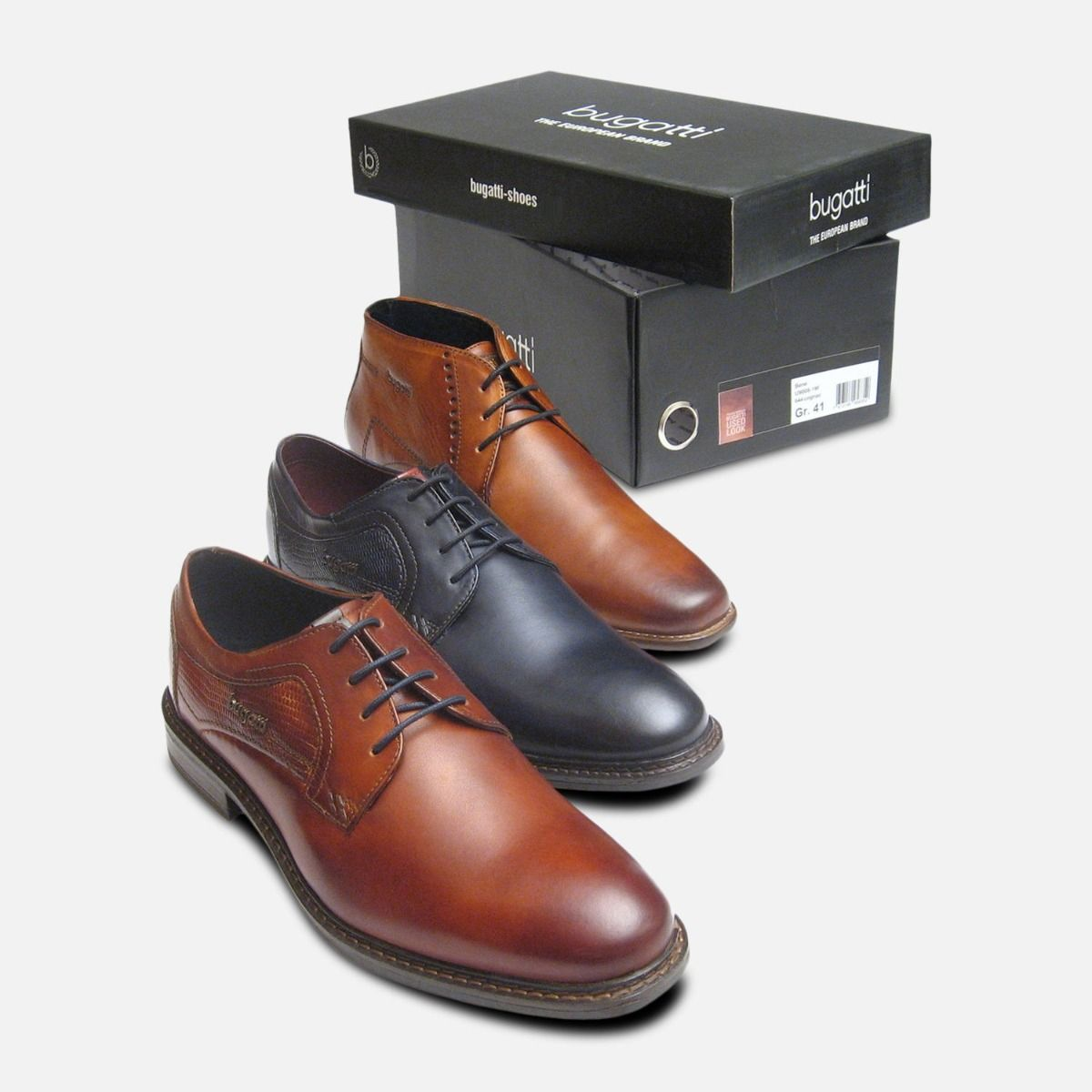 Brown Smart Lace Up Shoes Bugatti Men