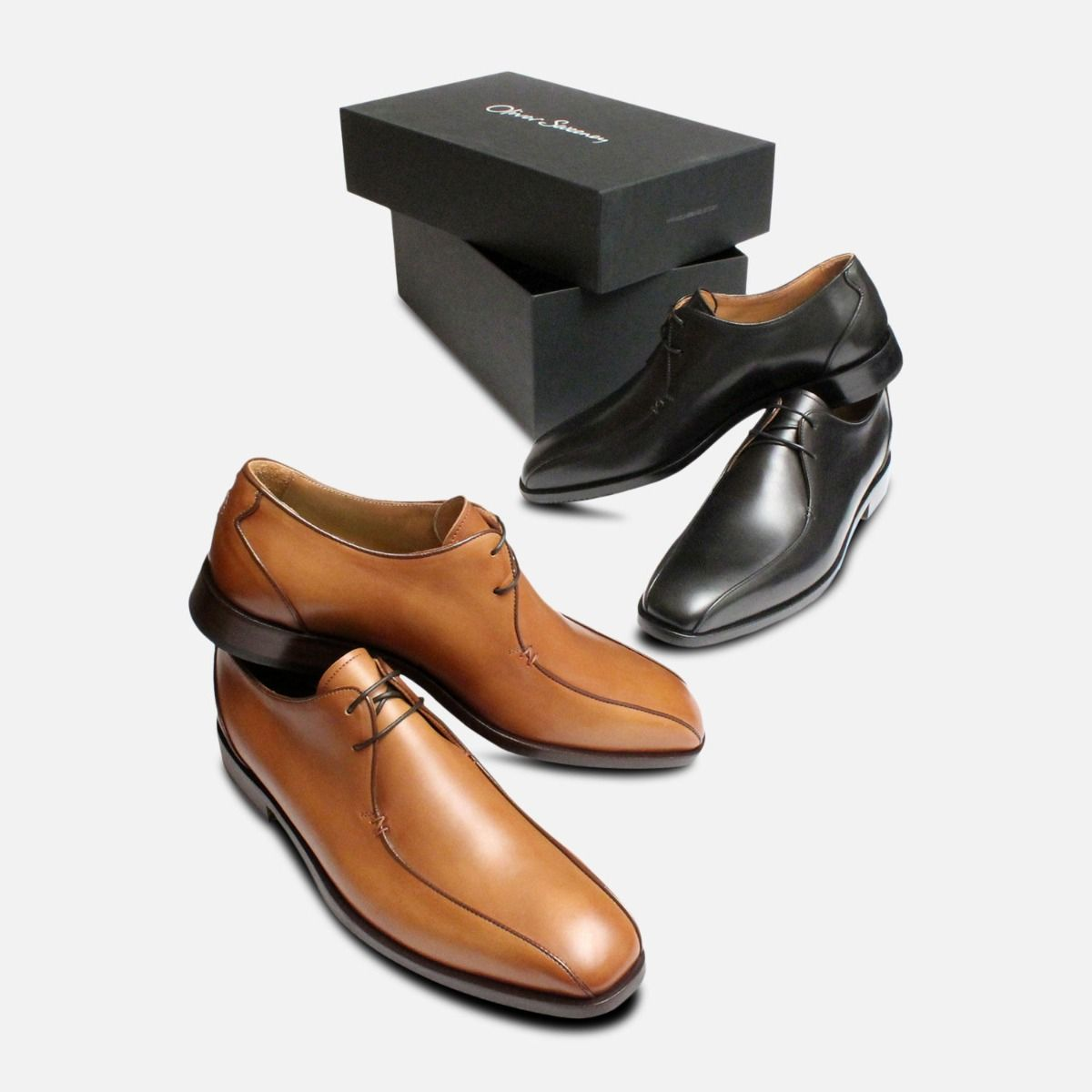 Brown Italian Shoes by Oliver Sweeney Sapri in Tan