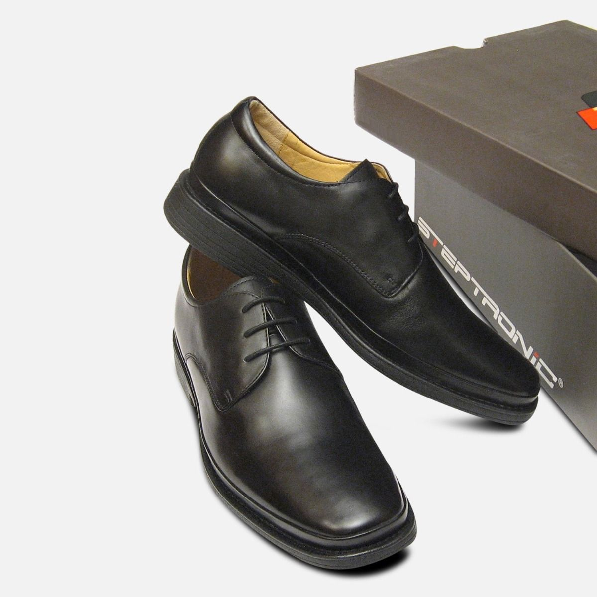 Steptronic Formal Black Mens Lace Up Shoes