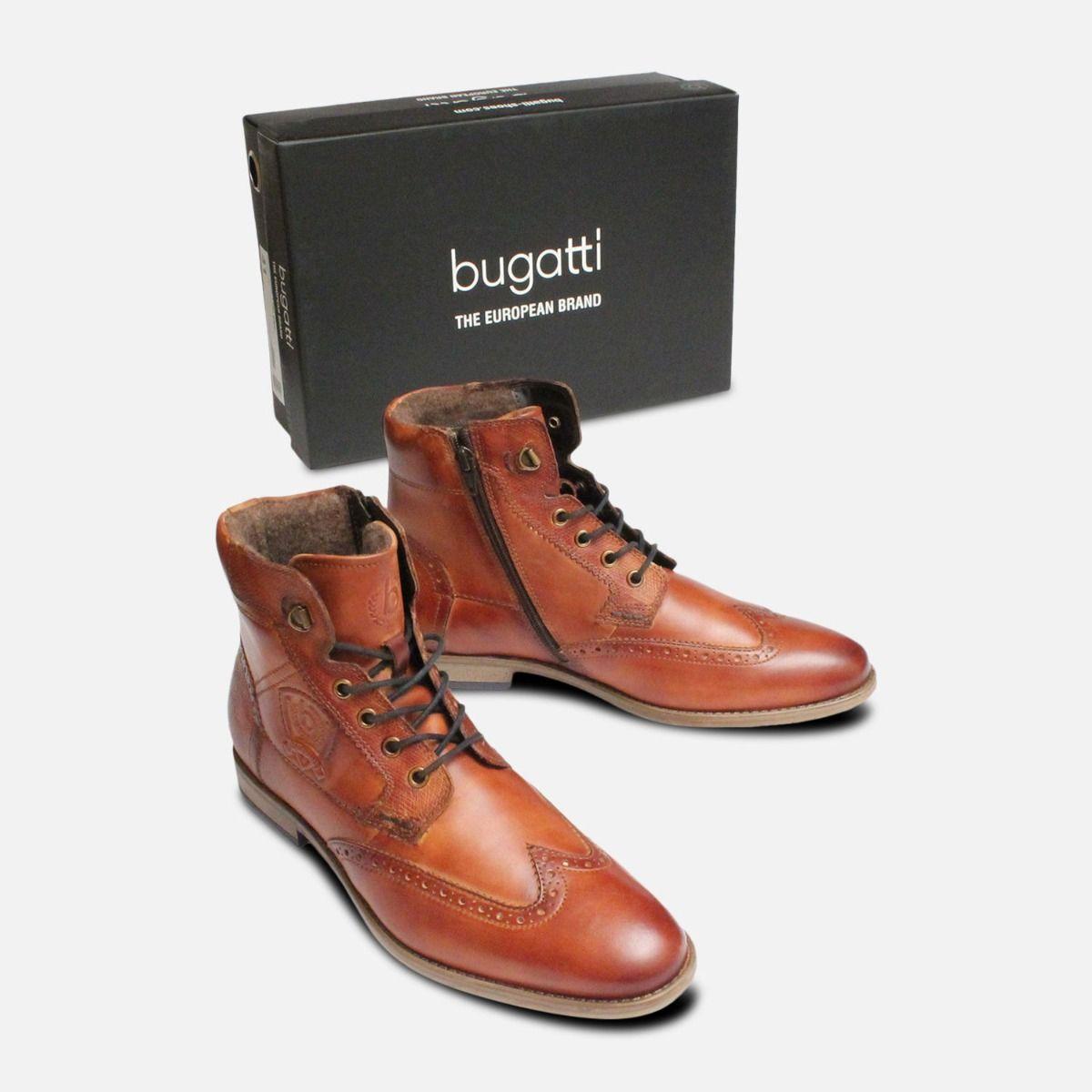 Commander Bugatti High Boots in Antique Tan