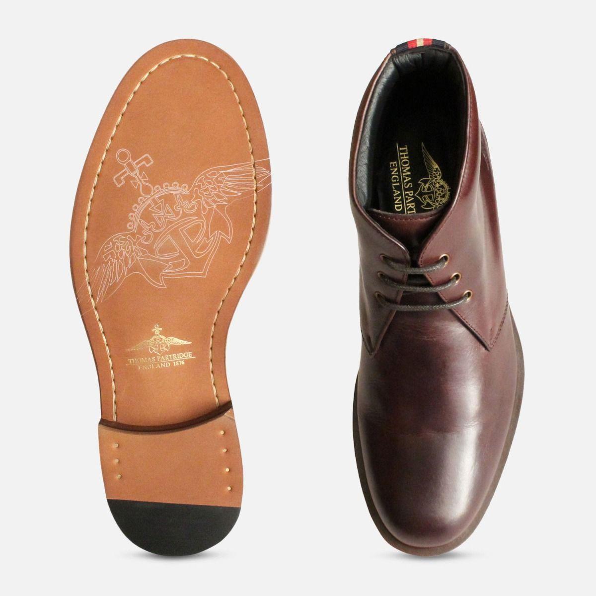 Thomas Partridge Mens Brown Digby Chukka Boots