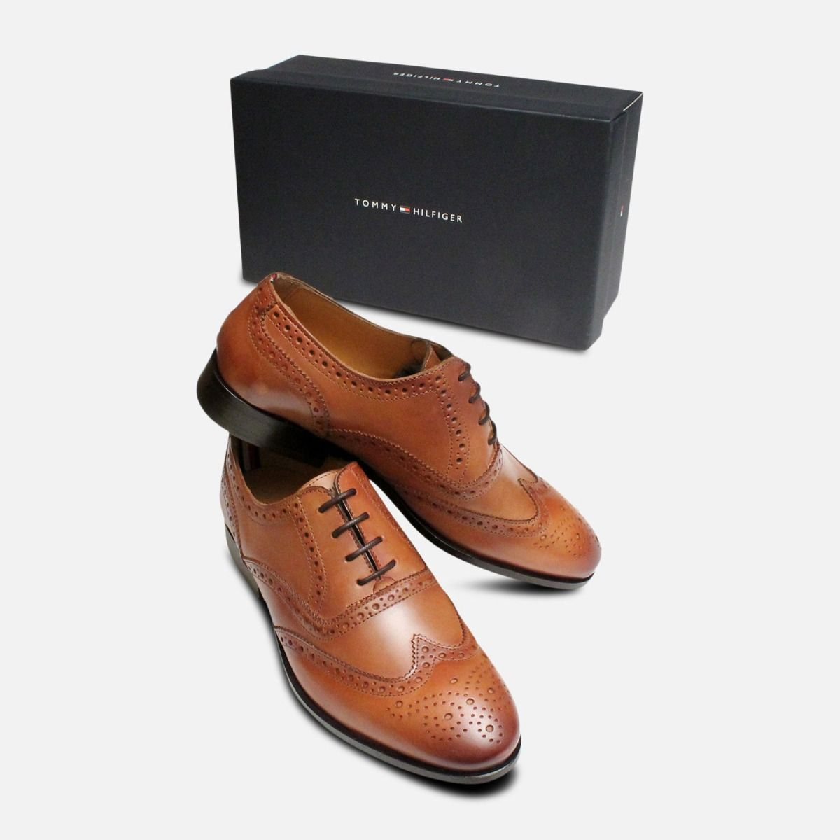 Tommy Hilfiger Brandy Brown Bennett Oxford Brogues