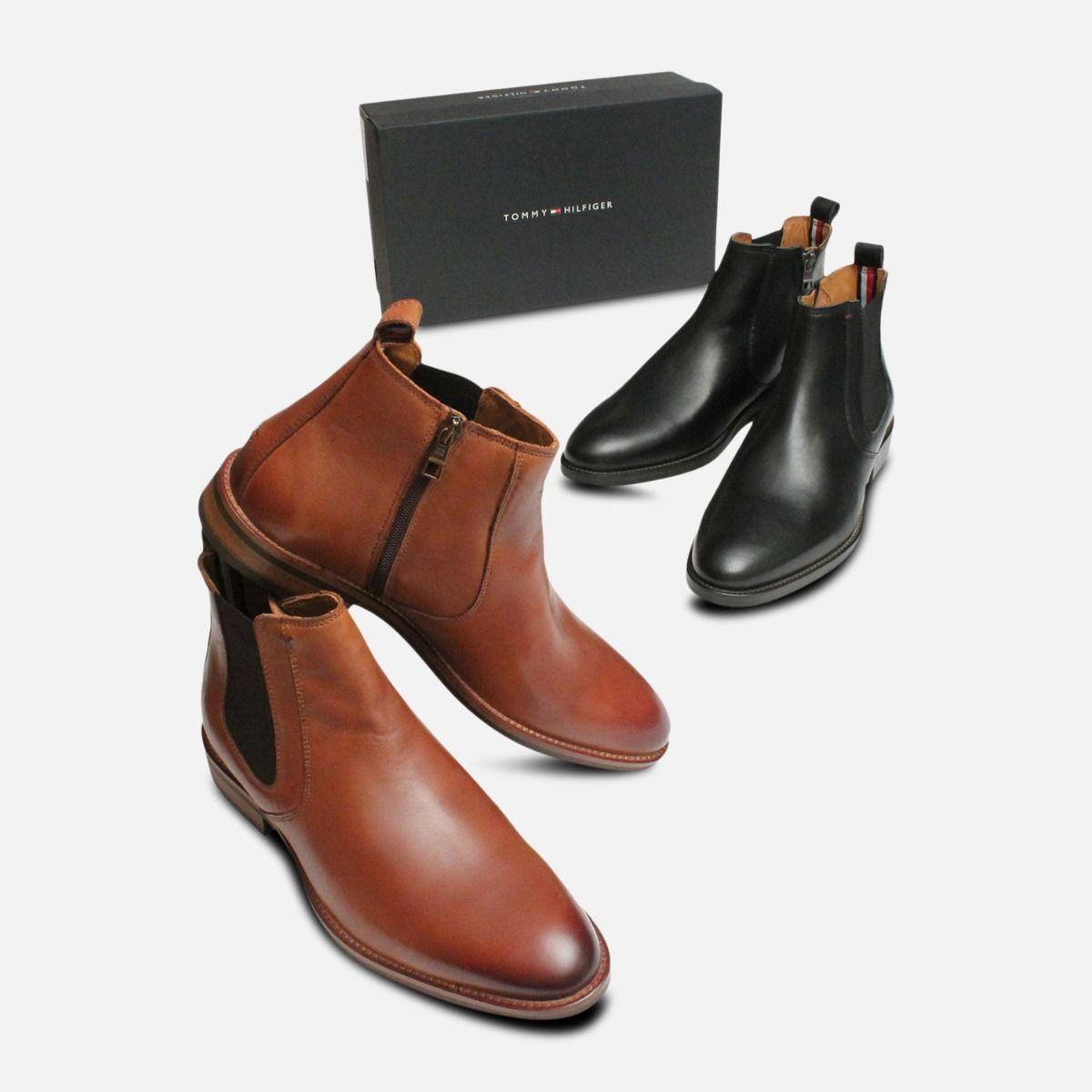 ddbd00bfd Black Tommy Hilfiger Daytona Dress Chelsea Boots