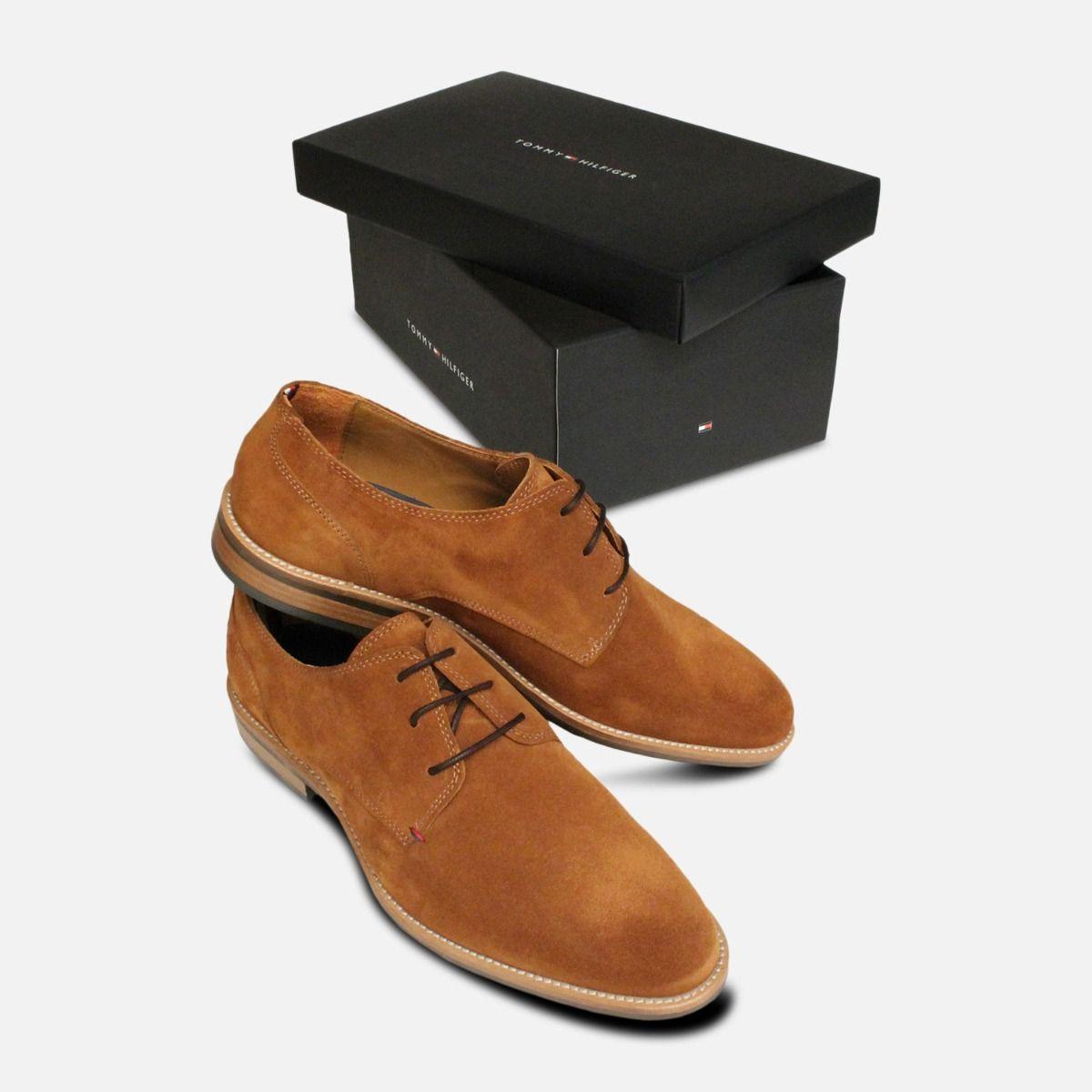 Tommy Hilfiger Cognac Suede Mens Daytona Shoes