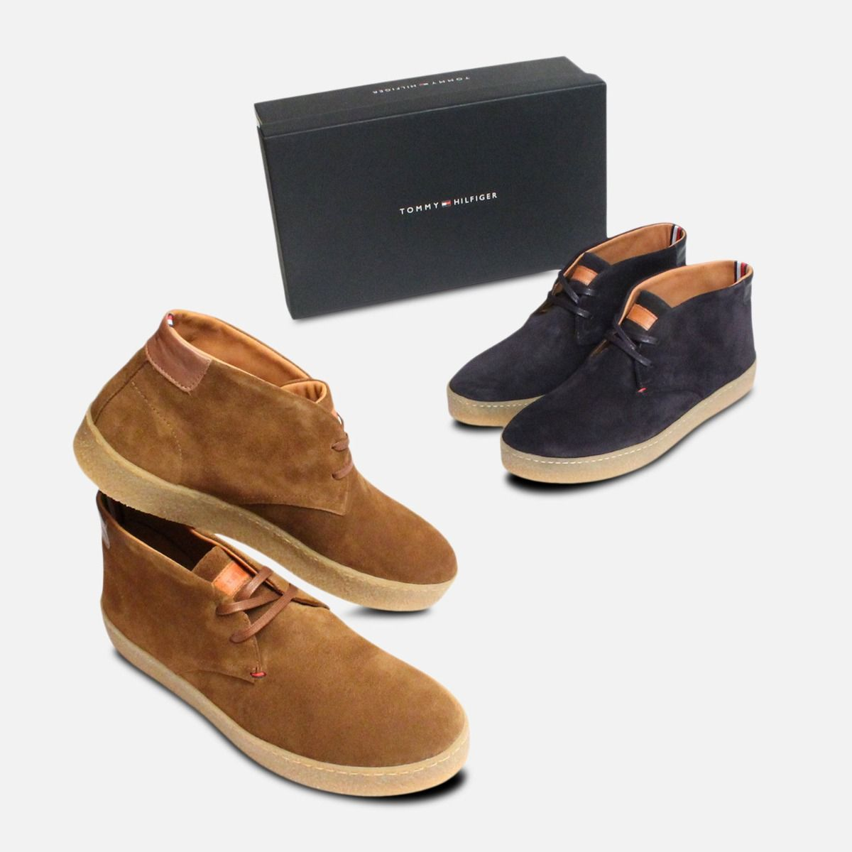 Tobacco Suede Tommy Hilfiger Logan Crepe Sole Boot