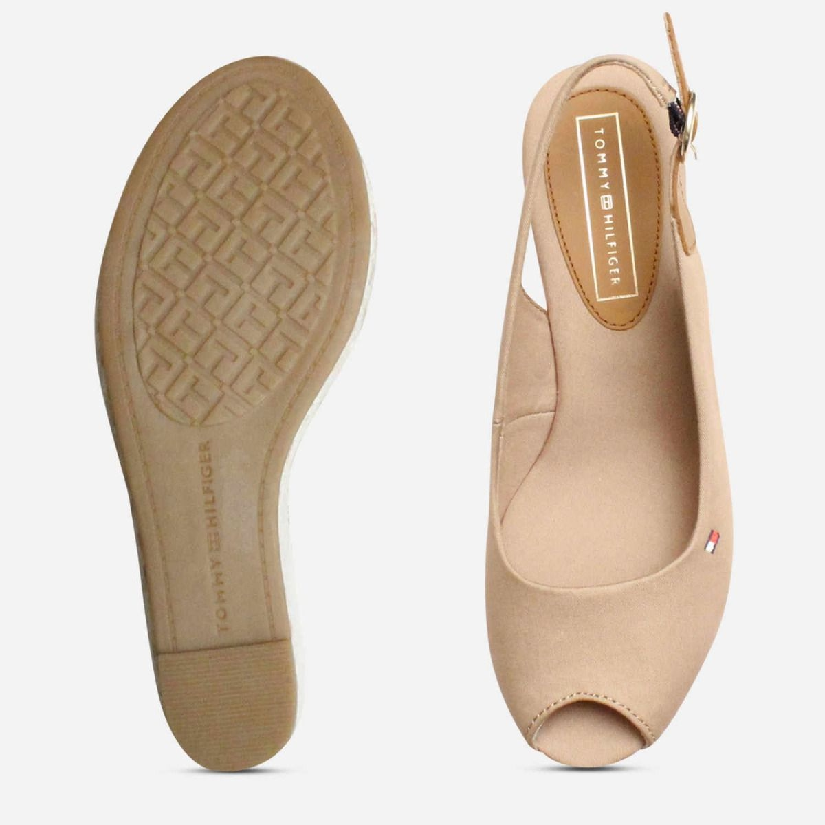 Tommy Hilfiger Womens Elba Cobblestone Sling Back Sandals
