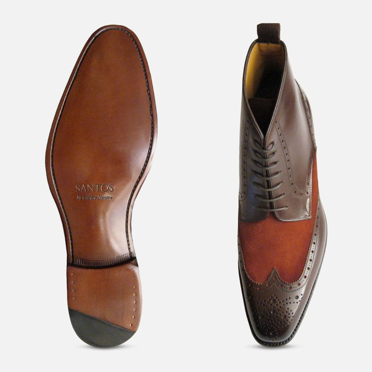 Carlos Santos Brown Laceup Boot