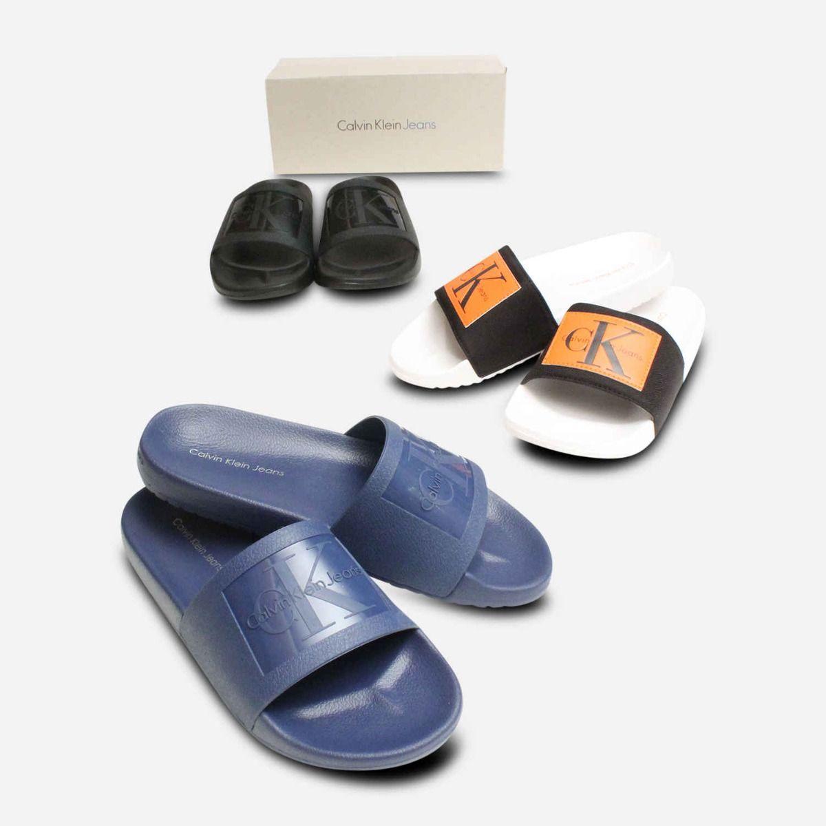 Vincenzo Black Jelly Calvin Klein Mens Slide Sandals Calvin Klein Men'S Leather Sandals Shoes