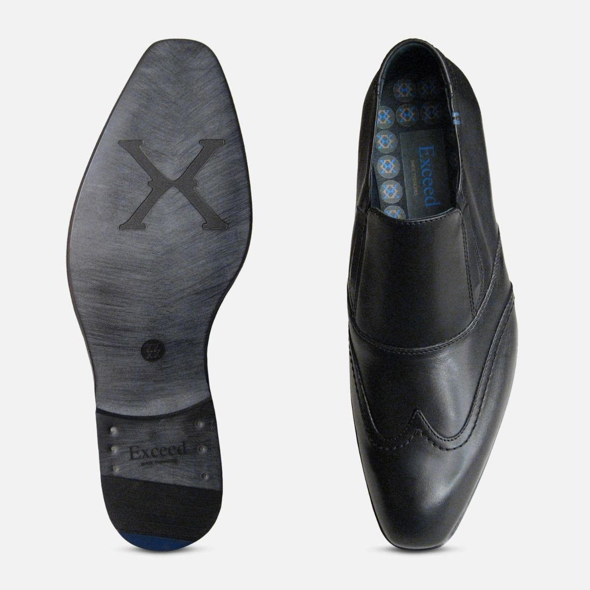 Matrix Loafers in Black by Exceed Shoes