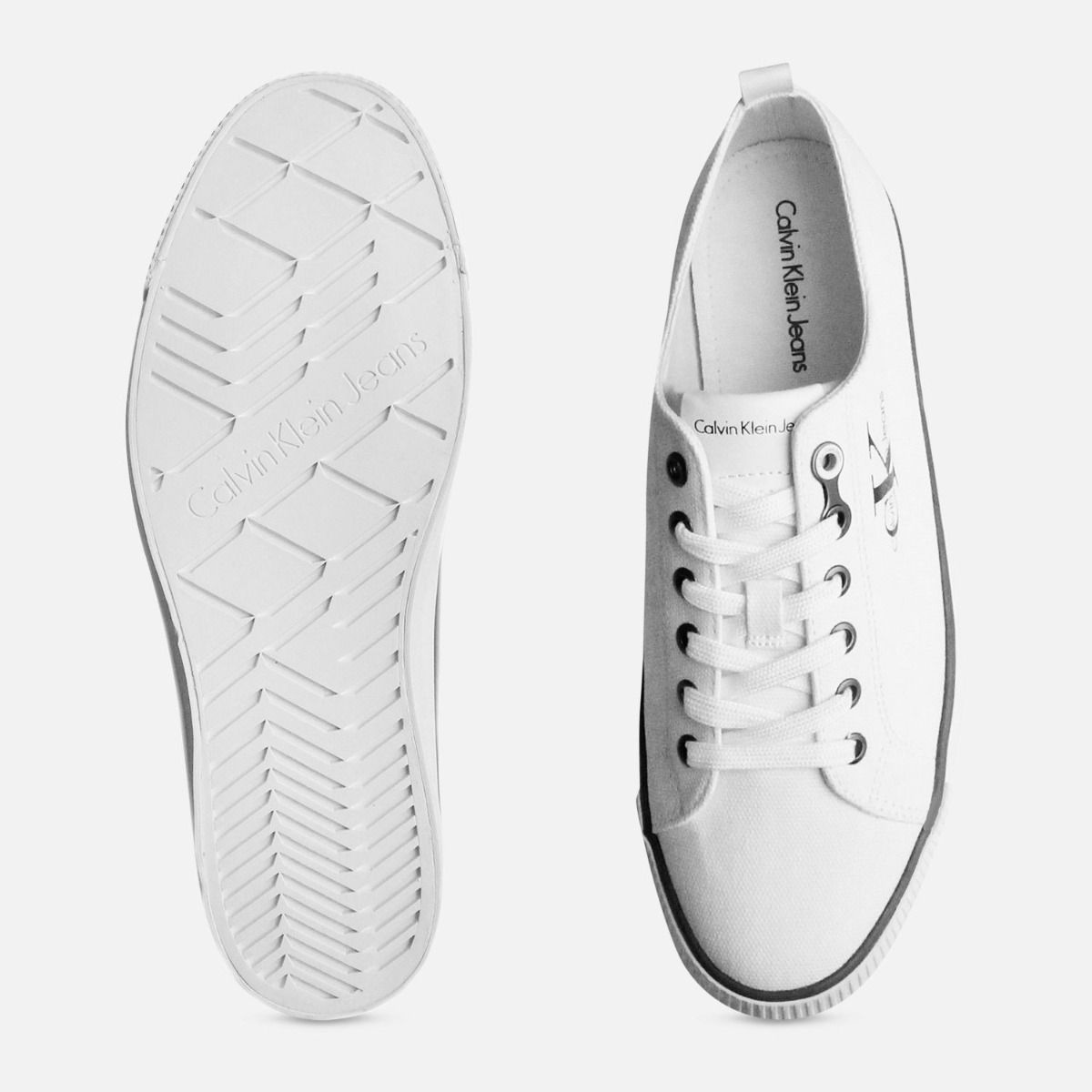 Calvin Klein White Arnold Canvas Cupsoles for Men