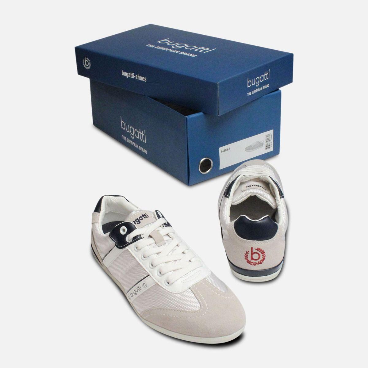 Grey & White Designer Bugatti Sneakers