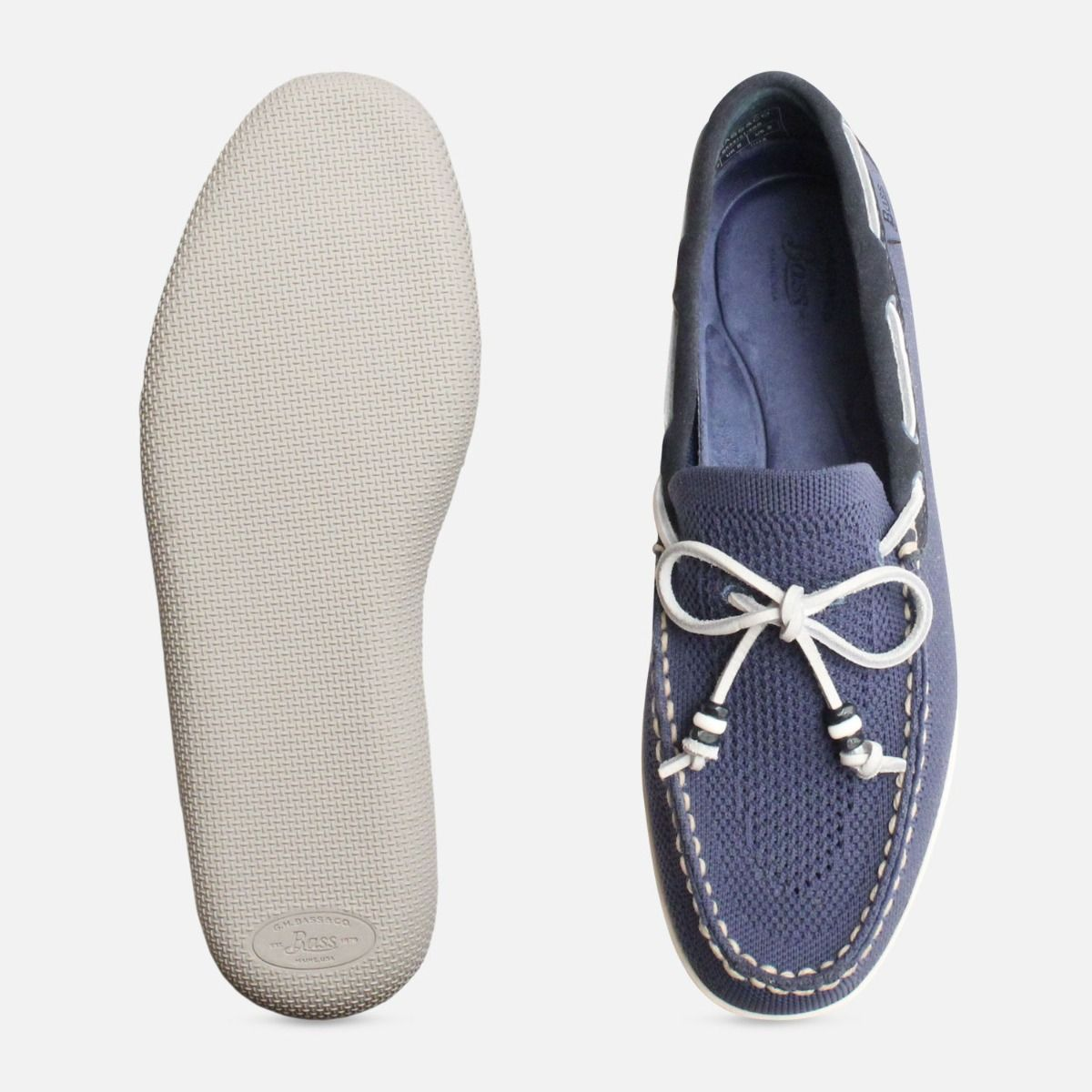 Blue Mens Wilton Weave Driver by Bass Shoes