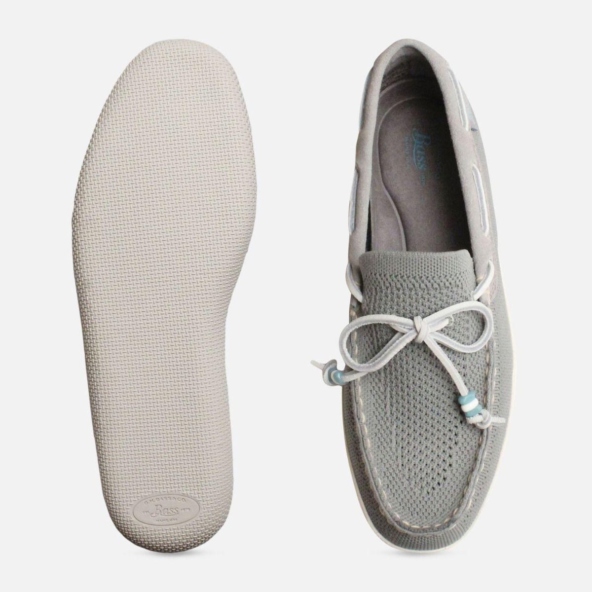 Light Grey Mens Wilton Weave Driver Bass Shoes