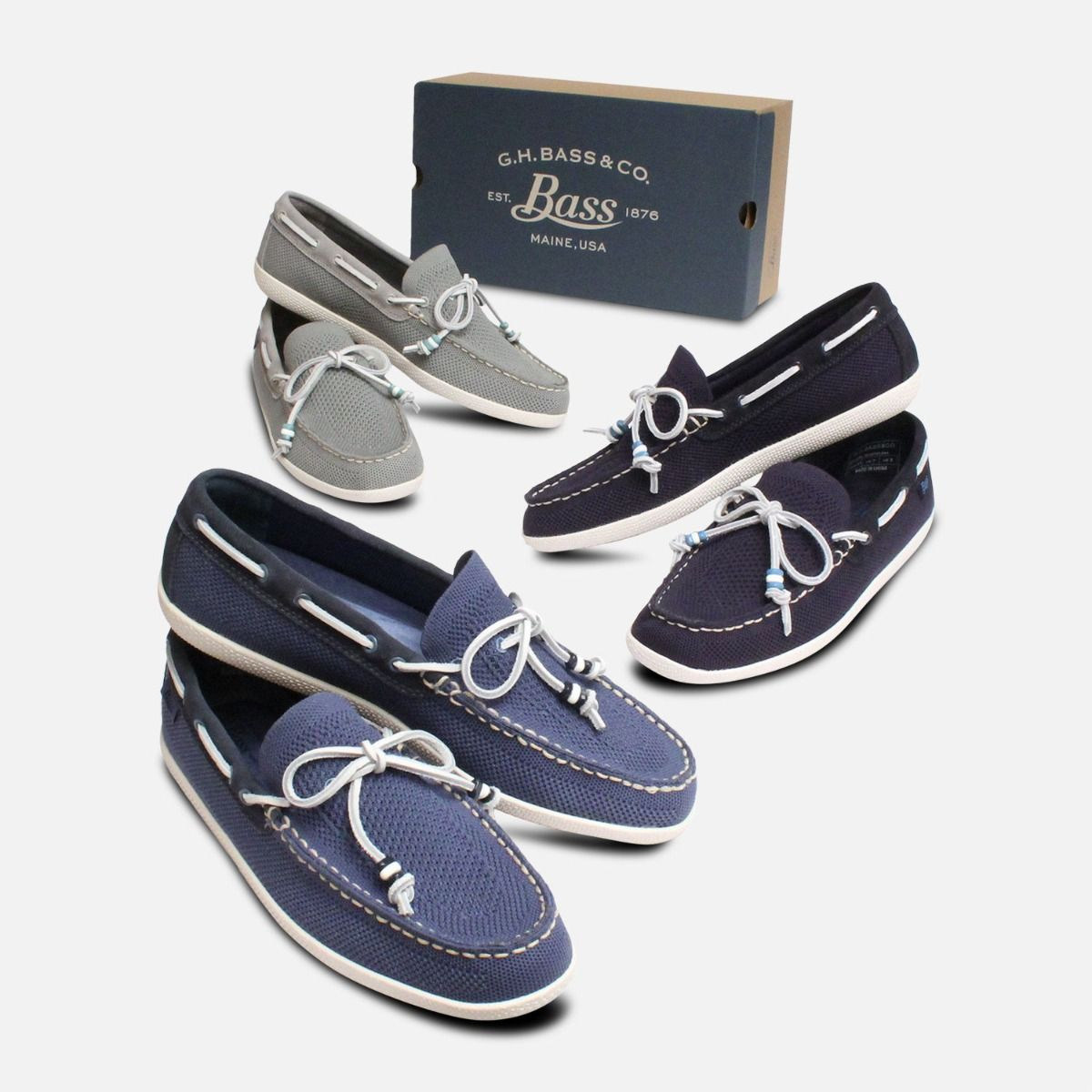 Navy Blue Mens Weave Driver by Bass Shoes