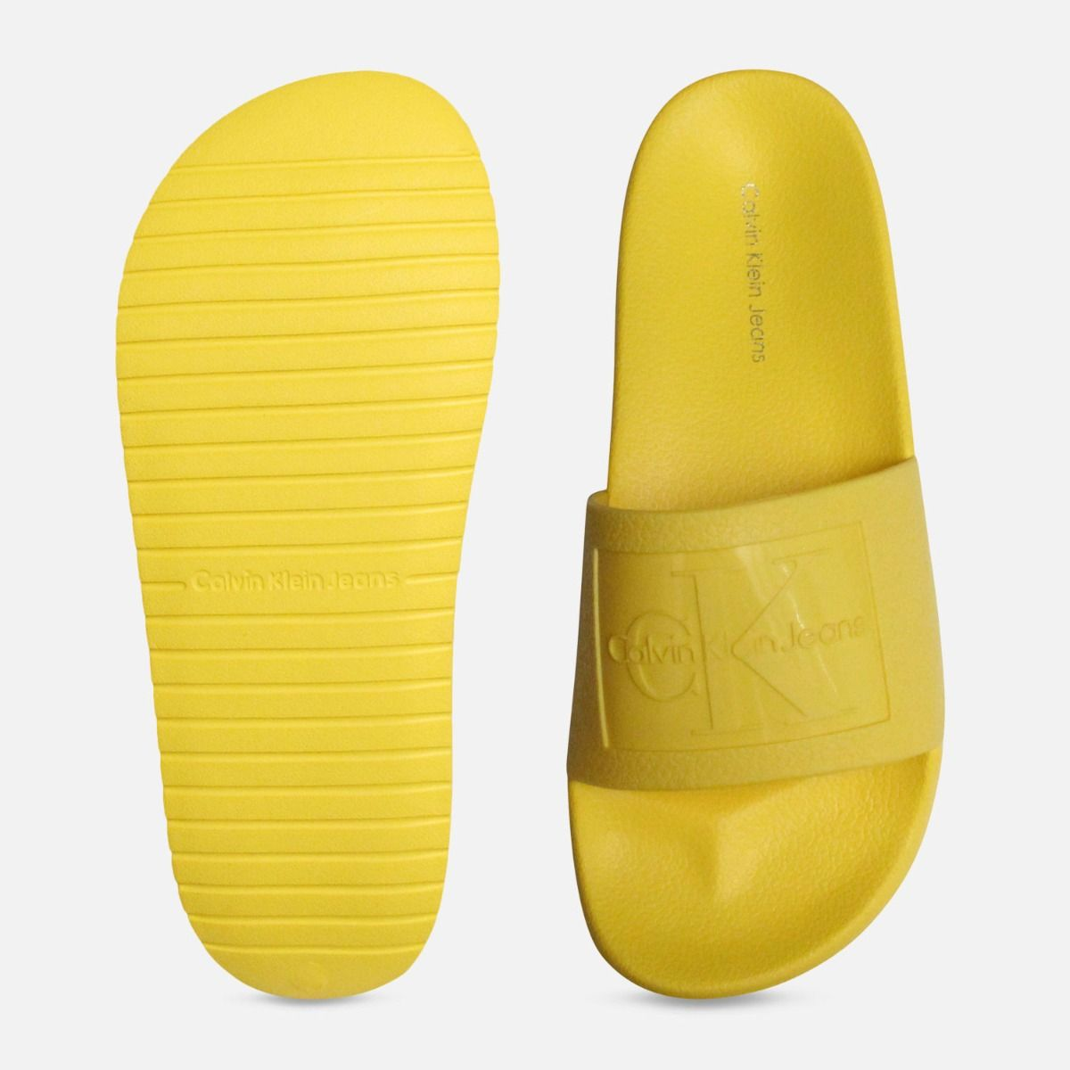 a482e2f68 yellow jelly calvin klein sandals christie slides .