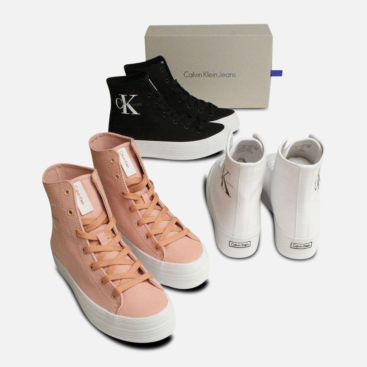 Light Pink Canvas Chunky Calvin Klein Zabrina Hi Tops