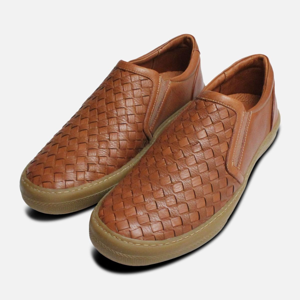b07c971341 Brown Weave Loafers for Men by Anatomic Shoes