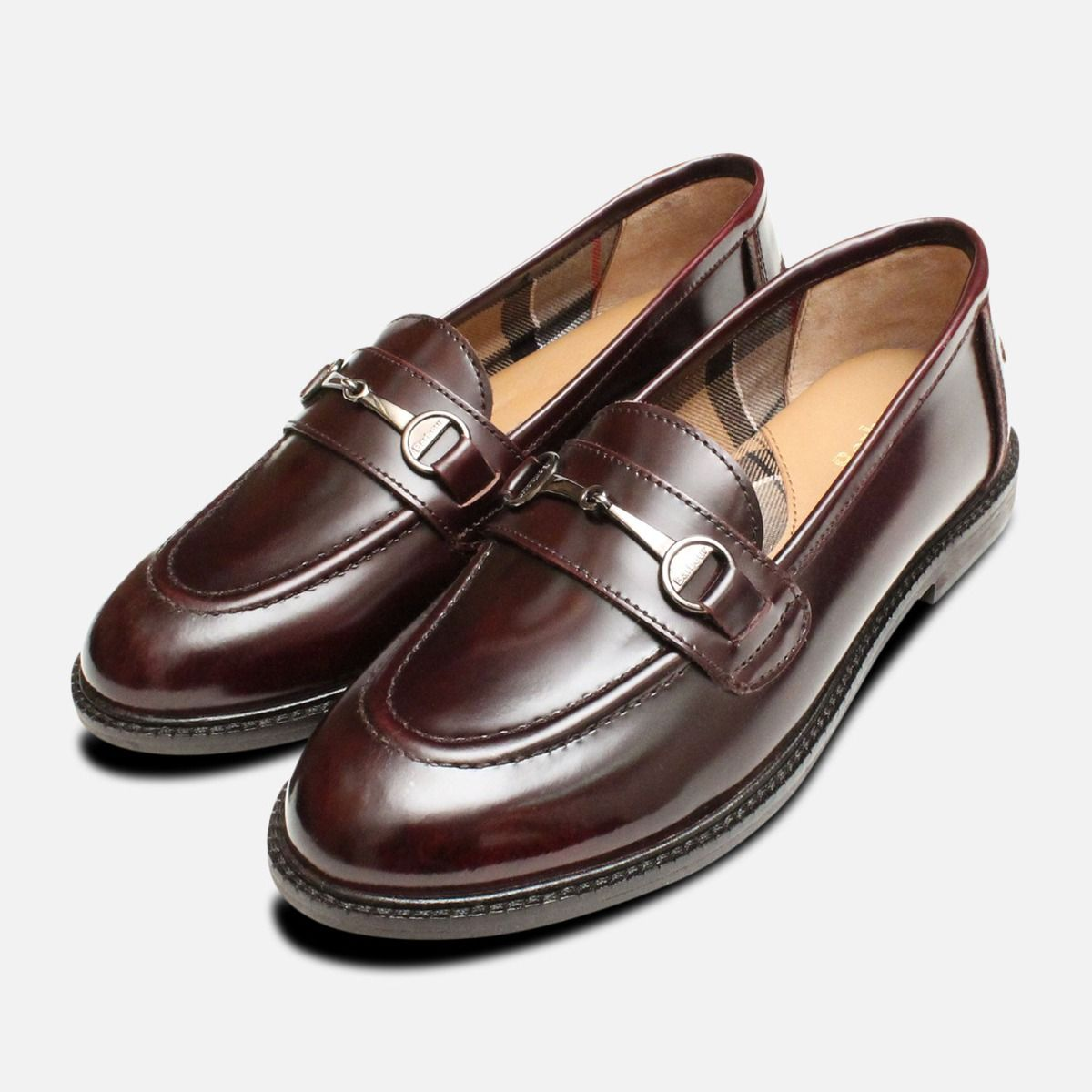 great look shopping lowest discount Barbour Burgundy Polished Ladies Heather Loafers
