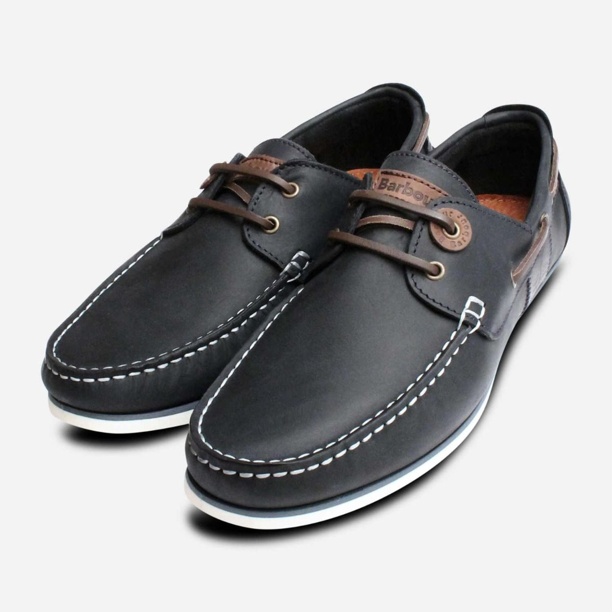 c21f5eb16311 Barbour Capstan Navy Blue   White Boat Shoes