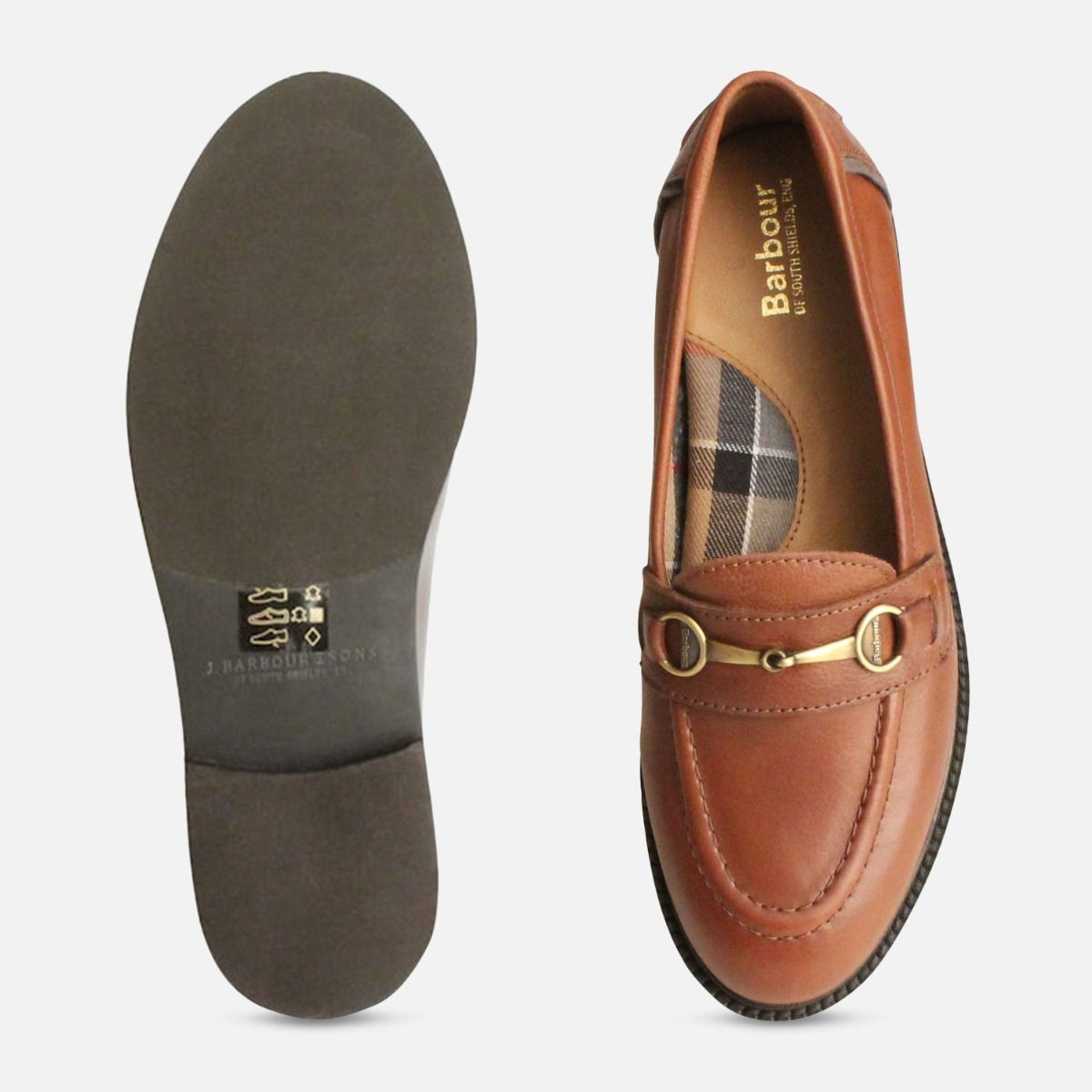 watch differently premium selection Barbour Chestnut Brown Ladies Heather Loafers