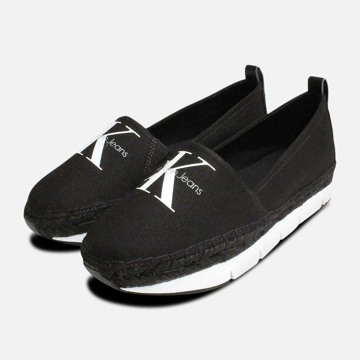 83c790ac20cc Calvin Klein Shoes Genna Canvas Espadrilles in Black