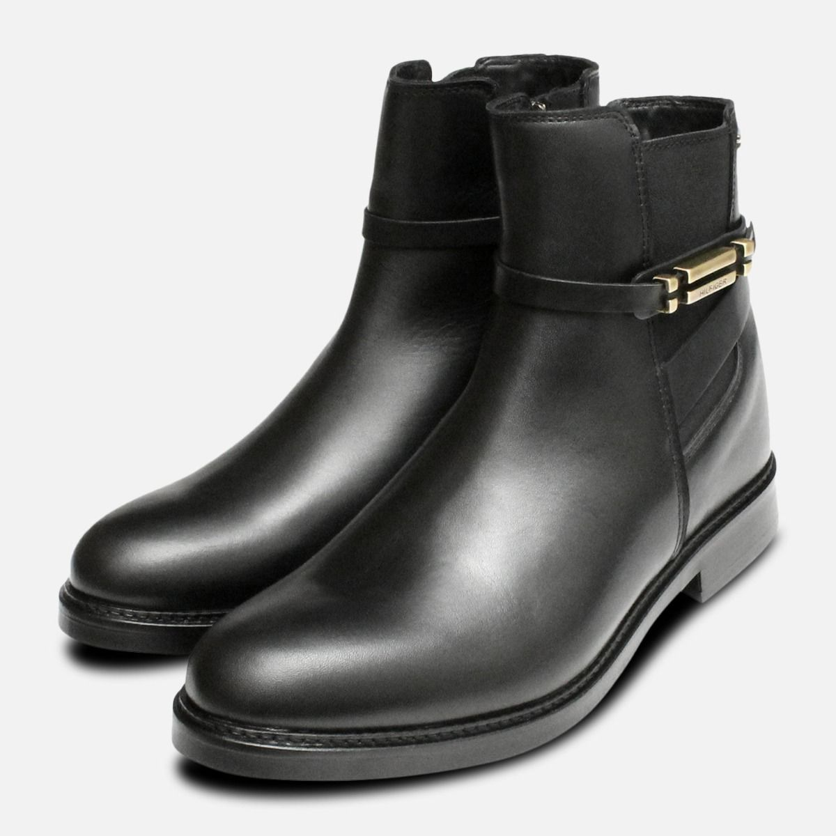 e963503567f6b8 Waterproof Tommy Hilfiger Black Holly Chelsea Boots