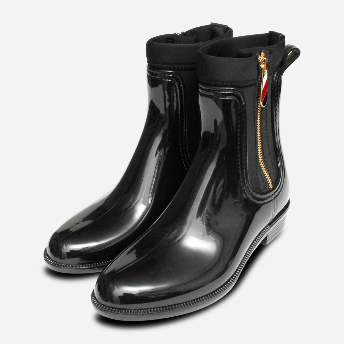 Tommy Hilfiger Black Chelsea Boot Ankle Welly