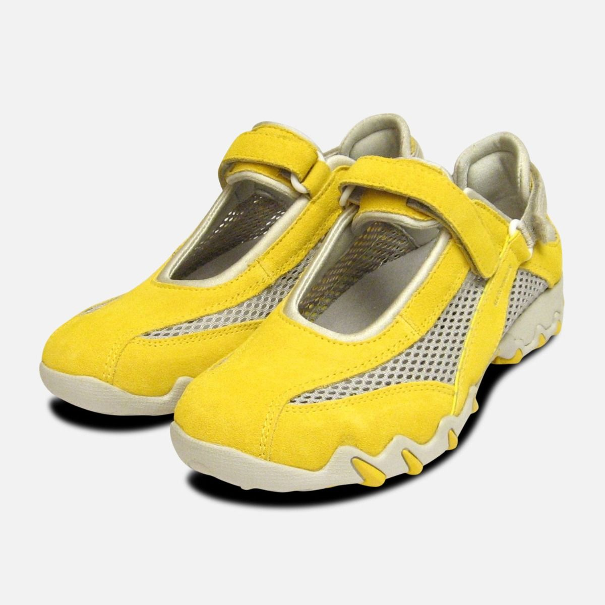 finest selection 31d07 fccc7 Niro in Yellow Suede by Mephisto Ladies Designer Sneaker Trainers