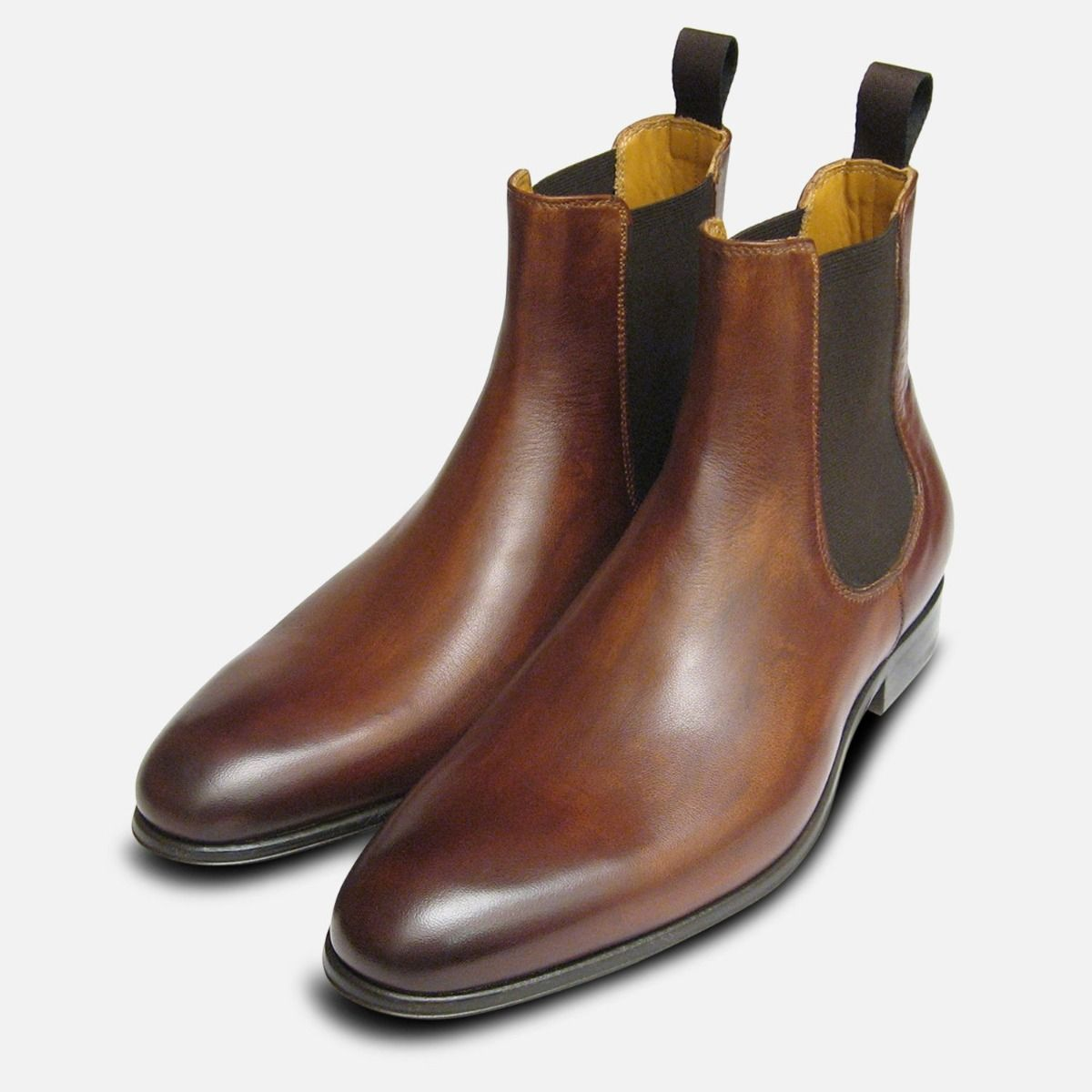 f73b869af1aa2 Antique Tan Brown Mens Chelsea Boots