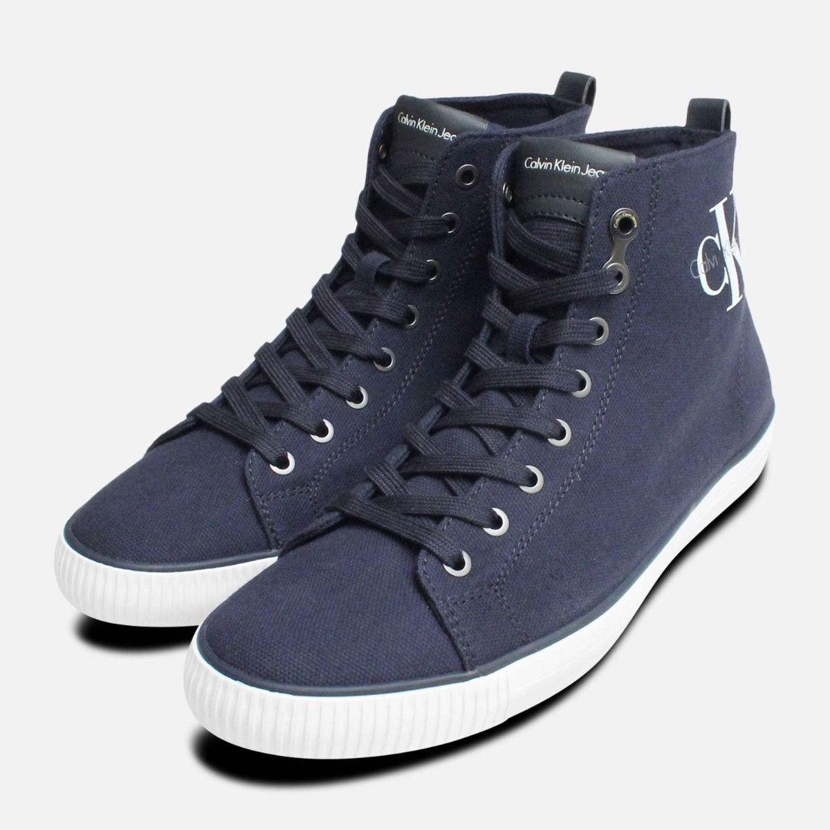 01ad4dcb15d8 Navy Blue Arthur Hi Tops by Calvin Klein Shoes S0367