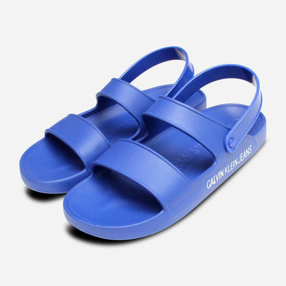 Blue Rubber Calvin Designer Sandals Patton Nautical Klein In sdQrht